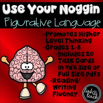 Use Your Noggin: Figurative Language Task Card Game