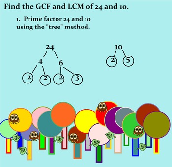Use of Venn Diagram to Find GCF and LCM