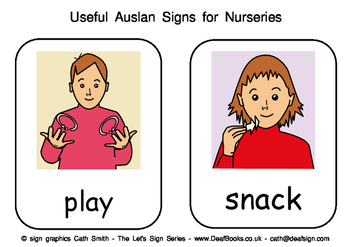 Useful Auslan Signs for Nurseries (Australian Sign Language)