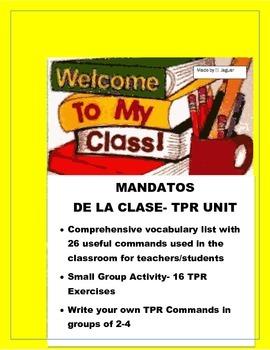 Mandatos de la Clase- Have fun with TPR Classroom Commands