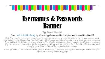 Usernames & Passwords Banner