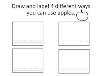 Uses for apples worksheet