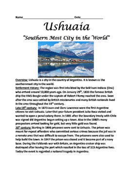 Ushuaia - Southern Most city in world Argentina - lesson q