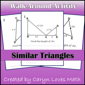 Similar Triangles~Proportions~Using Algebra in Geometry ~