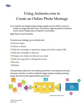 Using Animoto to Create an Online Photo Montage