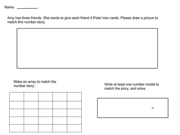 Using Arrays for Word Problems