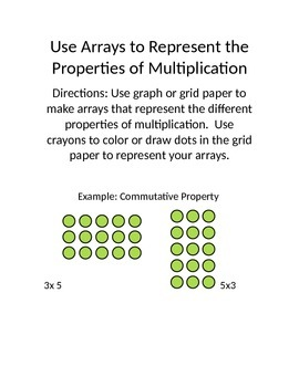 Using Arrays to Show Multiplication Properties