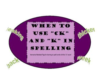 """Using """"CK"""" vs. """"K"""" when spelling"""
