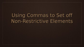 Using Commas With Non-Restrictive Elements