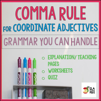 Using Commas to Separate Coordinate Adjectives ~ Teach! Pr
