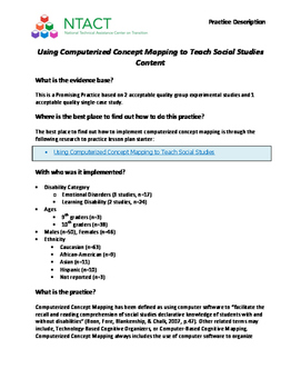 Using Computerized Concept Mapping to Teach Social Studies