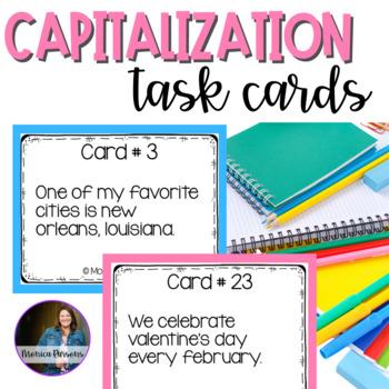 Using Correct Capitalization Task Cards