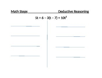 Using Deductive Reasoning to Simplify an Algebraic Express