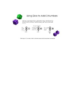 Using Dice to Add 3 Numbers