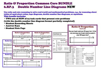 Using Double Number Line Diagrams BUNDLE TWO Ratio 6.RP.3