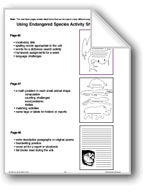 Using Endangered Species Activity Sheet Patterns