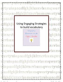 Using Engaging Strategies to Build Vocabulary