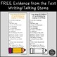 Using Evidence from the Text in Written Response and Speak