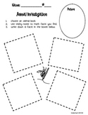 Using Facts: Animal Investigation Worksheet