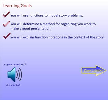 Using Functions in Stories