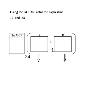 Using GCF to Factor the Expression