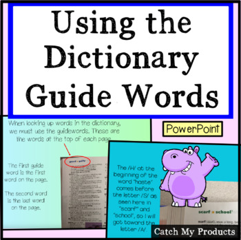 Dictionary Skills : Using Guide Words For the Dictionary