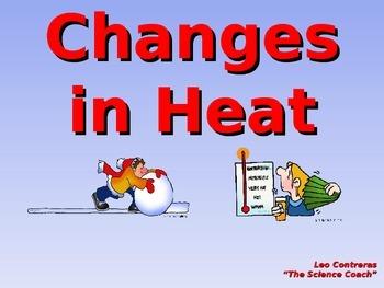 Using Heat Energy to Change Matter