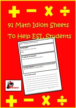 Using Idioms in Math - Help ESL Students (and Others) to U