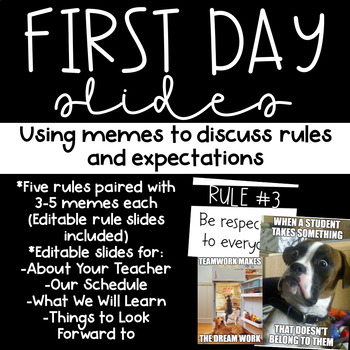 Using Memes to go over Classroom Rules- First Day of Schoo