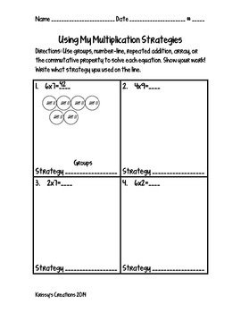 Using Multiplication Strategies
