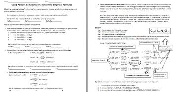 Using Percent Composition to Determine Empirical Formulas