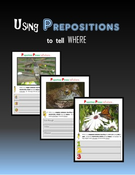 Using Prepositions to tell WHERE