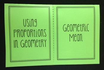 Using Proportions in Geometry & Geometric Mean (Geometry F