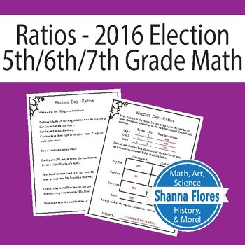 Using Ratios Worksheet; Real World Word Problems: Voting,