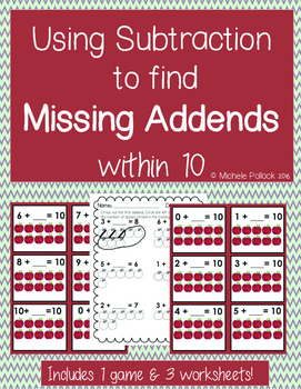 Using Subtraction To Find Missing Addends!