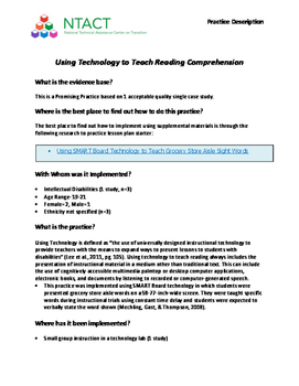 Using Technology to Teach Reading Comprehension