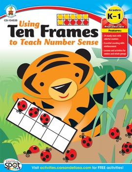 Using Ten Frames to Teach Number Sense Grades K-1 SALE 20%