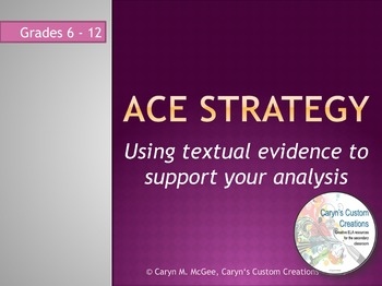 Using Textual Evidence to Support Analysis