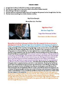 Using The Dark Knight Movie to Teach Tragic Hero