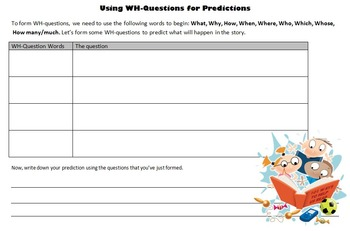 Using Wh-questions for Predictions