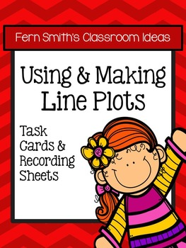 Using and Making Line Plots Task Cards without Common Core