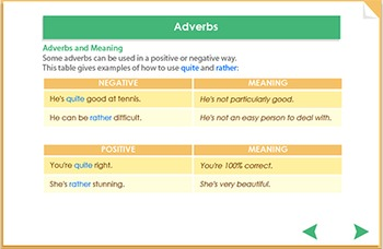 Using different adverbs