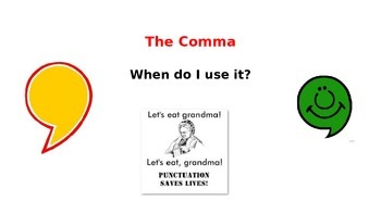 Using the Comma