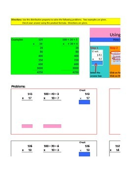 Using the Distributive Property to Multiply in Excel