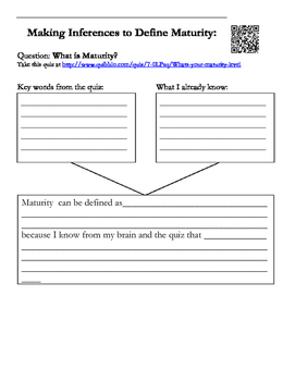Using the Inferring Strategy to Define Maturity