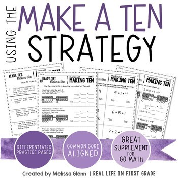 Go Math Using the Make a Ten Strategy to Add * Differentiated