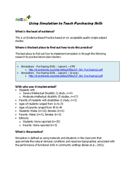 Using the Simulations to Teach Purchasing Skills