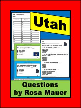 Utah Hello USA Task Cards and Worksheet