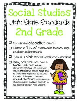 Utah Social Studies Standards Checklist 2nd Grade