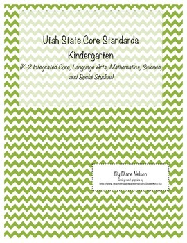Utah State Core Standards Kindergarten
